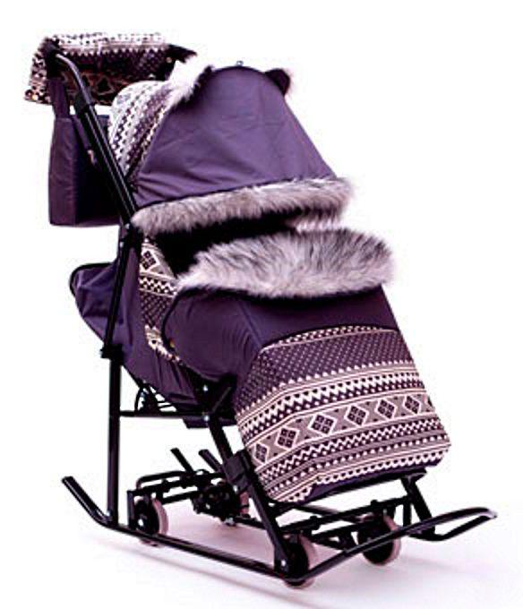 санки коляска с выдвижными колесами недорого купить в самаре
